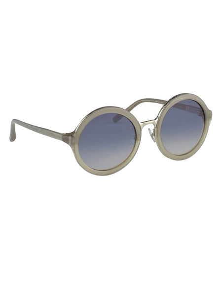 LINDA FARROW - LINDA FARROW X PHILLIP LIM - GREY/CLEAR/NICKEL -  EYEWEAR - The Well