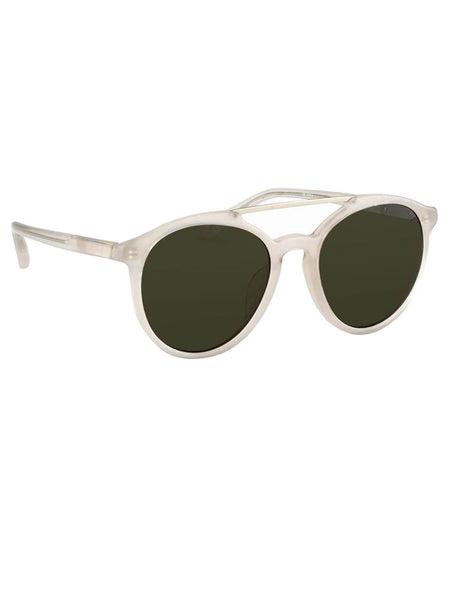 LINDA FARROW - LINDA FARROW X PHILLIP LIM - MILK/BRUSHED SILVER/GREEN -  EYEWEAR - The Well