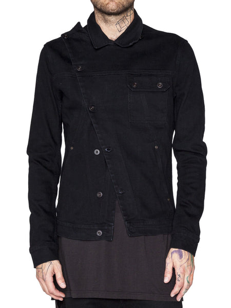 BARBARA I GONGINI - DENIM JACKET - BLACK -  MENS | OUTERWEAR - The Well