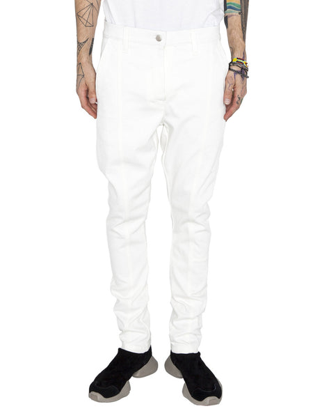 THE WELL - MOTO PANT - WHITE -  MENS | BOTTOMS - The Well