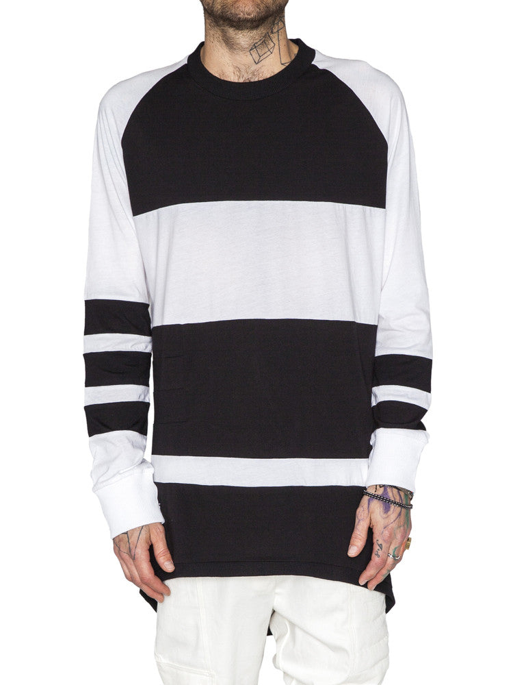 THE WELL - MOTO JERSEY - BLACK/WHITE -  MENS | TOPS - The Well