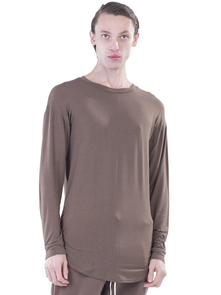 REPRESENT CLOTHING - ESSENTIAL LONG SLEEVED SCOOPED T-SHIRT - TAUPE -  MENS | TOPS - The Well