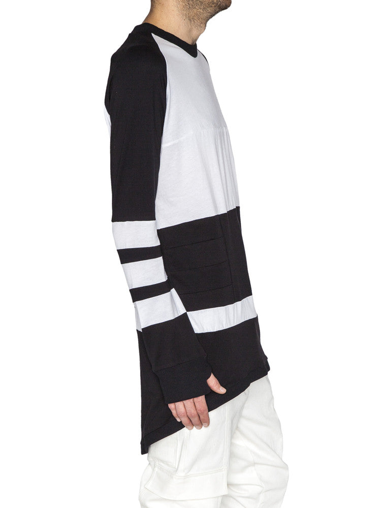 THE WELL - MOTO JERSEY - WHITE/BLACK -  MENS | TOPS - The Well