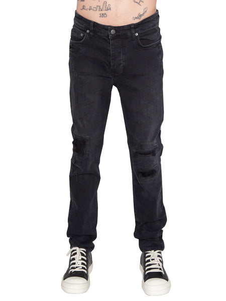 KSUBI - CHITCH JEAN BONEYARD - BLACK DESTROYED -  MENS | BOTTOMS - The Well