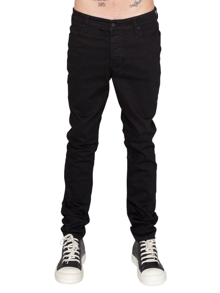KSUBI - CHITCH JEAN LAID - BLACK -  MENS | BOTTOMS - The Well
