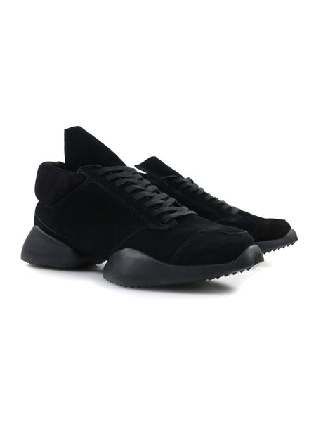 RICK OWENS - RUNNERS - BLACK SUEDE -  MENS | SHOES - The Well