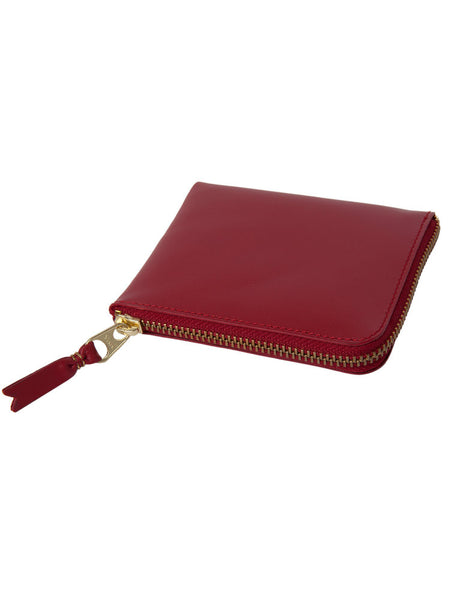COMME DES GARCONS - CLASSIC LINE - SMALL RED ROUND ZIP WALLET -  BAGS & WALLETS - The Well