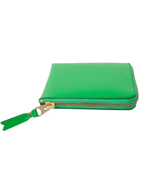 COMME DES GARCONS - CLASSIC LINE - SMALL GREEN ROUND ZIP WALLET -  BAGS & WALLETS - The Well