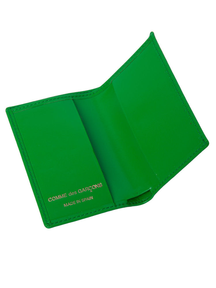 COMME DES GARCONS - CLASSIC LINE - GREEN CREDIT CARD HOLDER -  BAGS & WALLETS - The Well