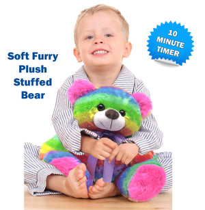 Big Teddy Bear Stuffed Animal Light-Up Toy Plushies Night Light for Kids, Toddlers, Rainbow 16""