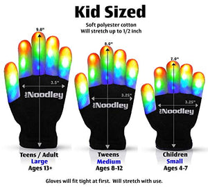 Flashing LED Light Gloves and Lighted Beanie Hat Set with Extra Batteries