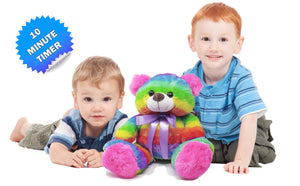The Noodley Rainbow Teddy Bear Stuffed Animal 16 inch