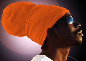 Unisex Orange Rasta Headwrap Turban