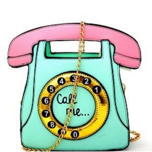 Vintage Rotary Telephone Cross Body Novelty Handbag