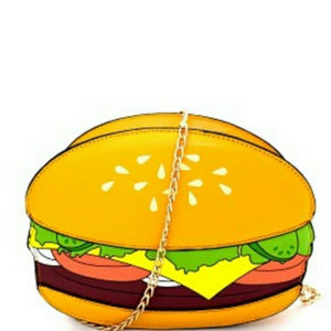 Cheeseburger Cross Body Novelty Handbag