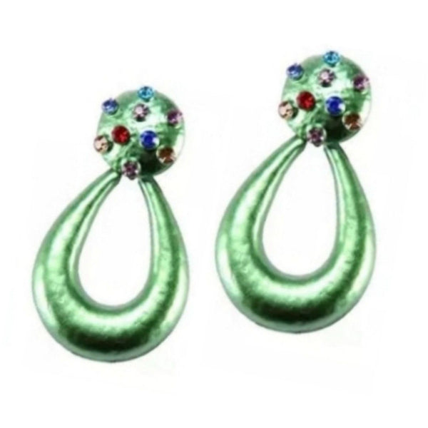 Sparkle Rhinestone Solid Teardrop Fashion Jewelry Earrings