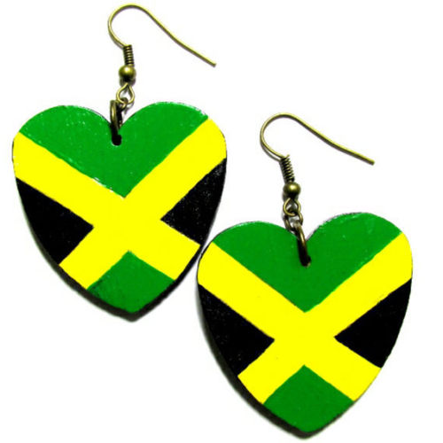 JAMAICA LOVE Multi-Color Rasta Fashion Jewelry Dangle Handmade Earrings