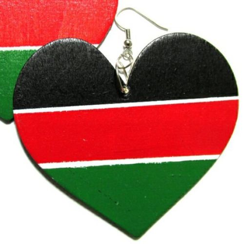 LIBERATION HEART Multi-Color Fashion Jewelry Dangle Handmade Earrings