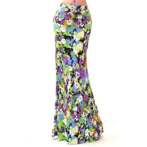 Got Style High Waist Floral Slim Fit Maxi Skirt