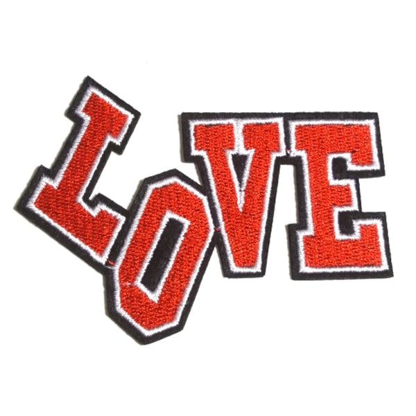 LOVE Red Word Expression Iron-On Patch
