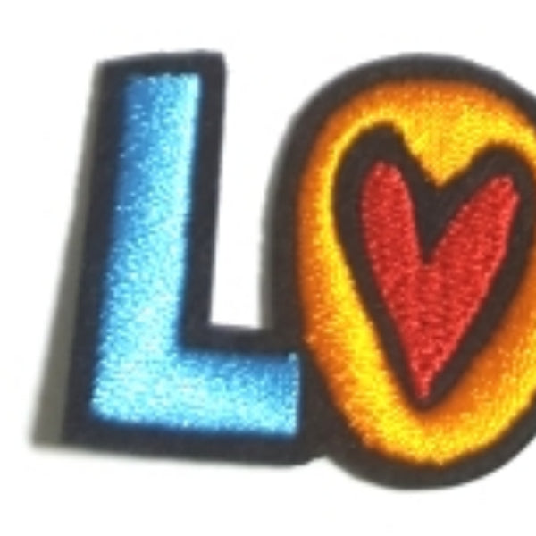LOVE Hearts Word Expression Iron-On Patch