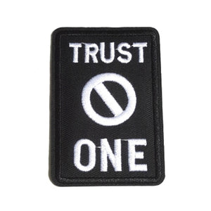 TRUST No ONE Expression Iron-On Patch