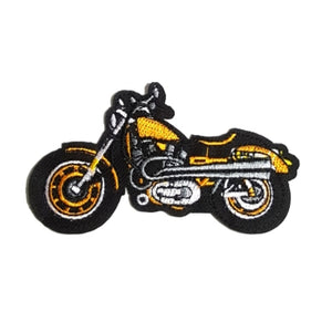 Motorcycle Yellow Black Iron-On Patch