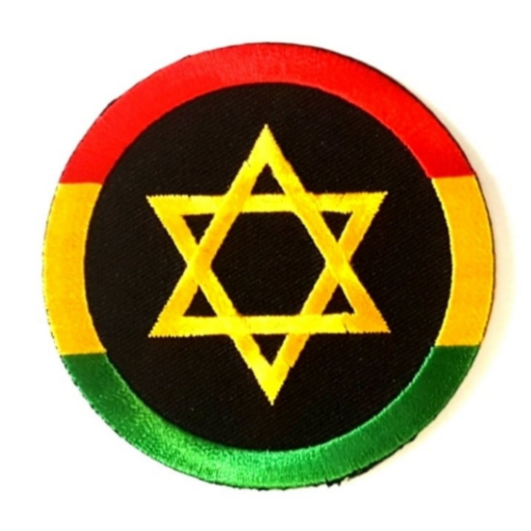 Star of David Rasta Iron-On Patch