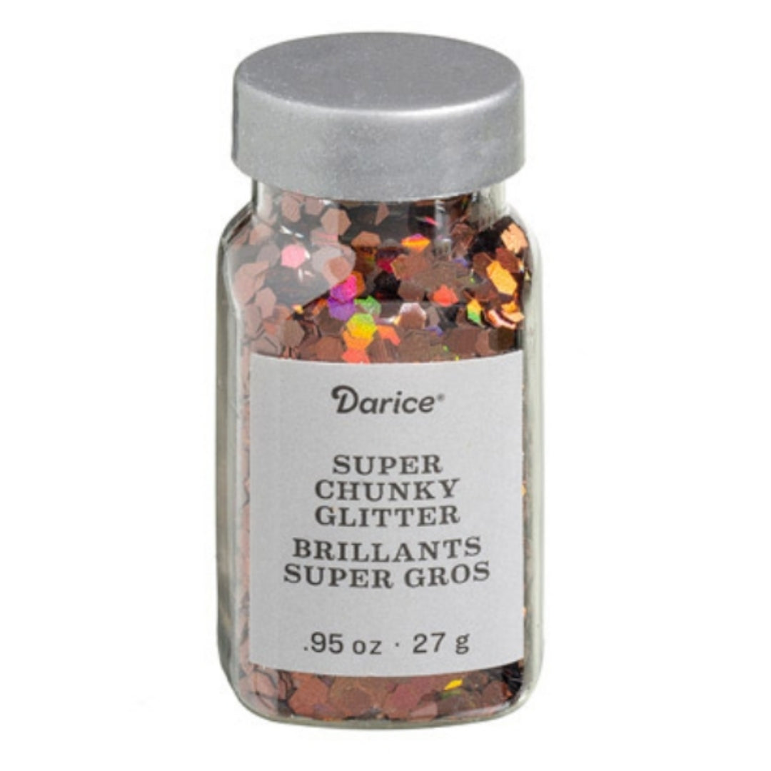 Darice™ BROWN Iridescent Chunky Hexagon Glitter
