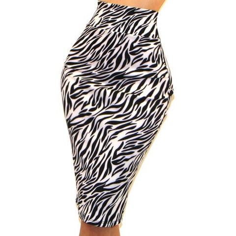 Got Style Black White Animal Print Bodycon Casual Sexy Pencil Skirt