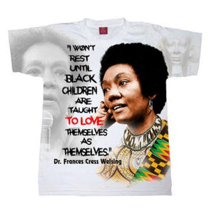 Black Children Love Yourself Dr Frances Cress Welsing Crew Neck Unisex Kente Tshirt