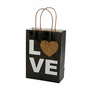 LOVE Kraft Paper Wedding Holiday Gift Bags - Set of 10