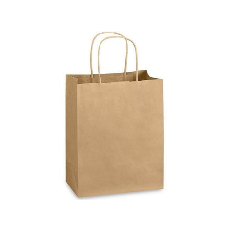 Brown Kraft Handle Paper Party Favor Wedding Gift Bags - Set of 3