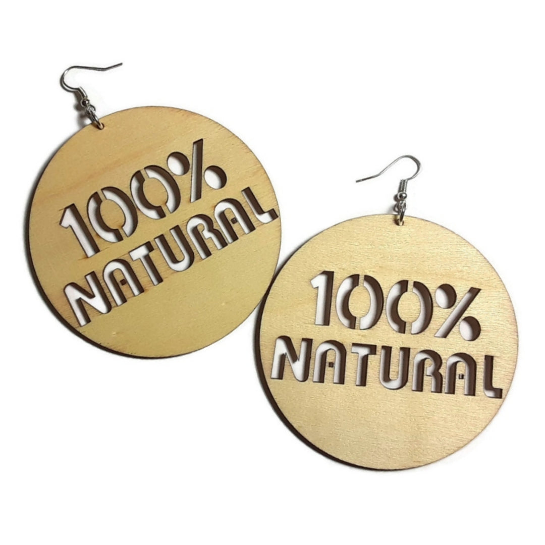100 PERCENT NATURAL Unfinished Ready to Decorate Natural Wood Earrings - Set of 5 Pairs