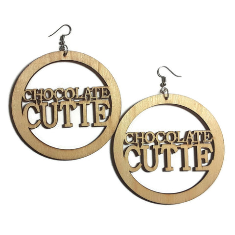 CHOCOLATE CUTIE Unfinished Ready to Decorate Natural Wood Earrings - Set of 3 Pairs