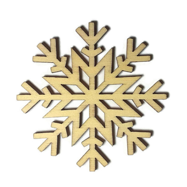 SNOWFLAKE Unfinished Ready to Decorate Natural Wood Cutout