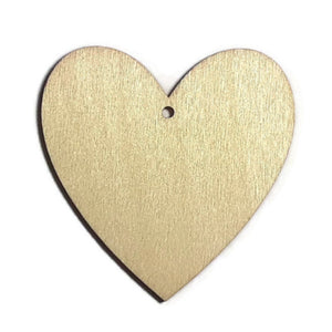 HEART Unfinished Ready to Decorate Natural Wood Cutout