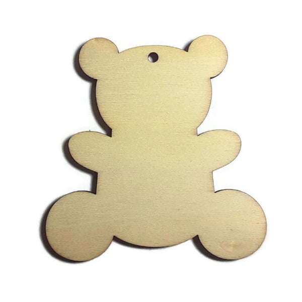 TEDDY BEAR Unfinished Ready to Decorate Natural Wood Cutout