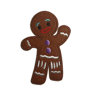 Gingerbread Man Iron-On Patch