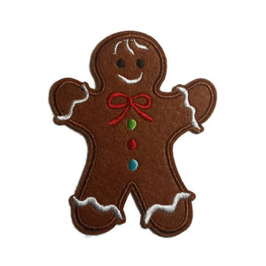 Gingerbread Cookie Iron-On Patch