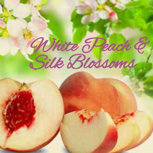 White Peach Silk Blossoms Candles/Bath/Body Fragrance Oil
