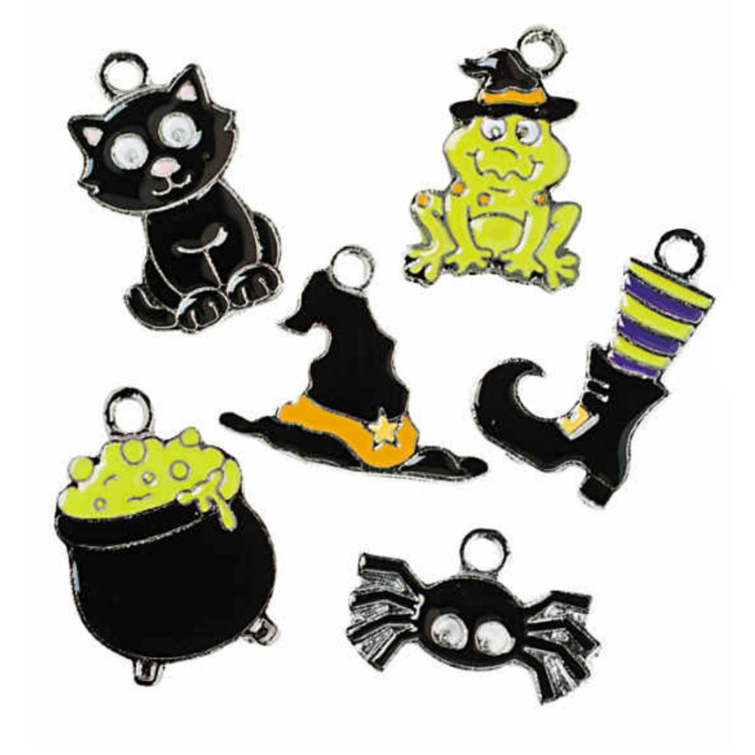 Halloween Witch House Assorted Charms