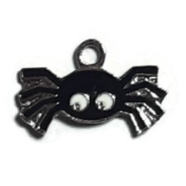 Halloween Black Spider Charms