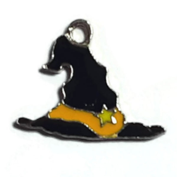 Halloween Witch Black Hat Charms