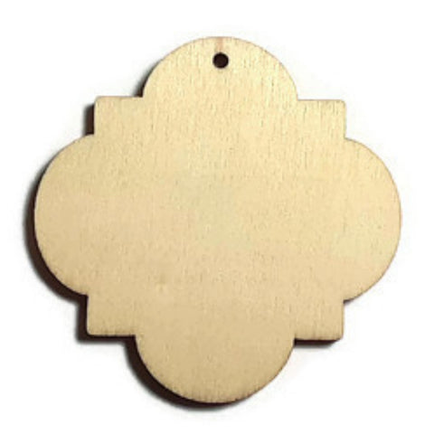 MEDALLION Unfinished Ready to Decorate Natural Wood Cutout