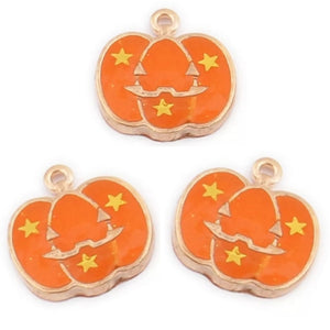 Halloween Pumpkin Orange Gold Charms