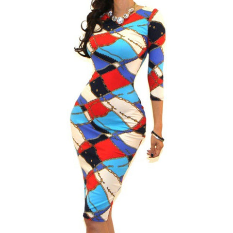 Got Style Winter 3/4 Sleeve Bodycon Party Cocktail Dress