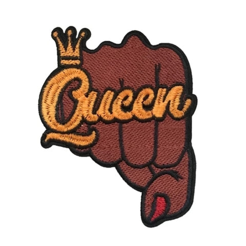 Melanin QUEEN DAP Iron-On Patch
