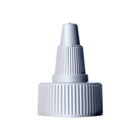White Twist Top Dispensing Caps - Bottle Cap Size: 24-410 - Set of 25