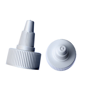 White Twist Top Dispensing Caps - Bottle Cap Size: 20-410 - Set of 25